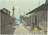 Fumio Kitaoka 1918-2007 - Afternoon at a Fishing Village