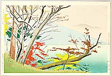 Sadanosuke Goto active in 1940s - Lake Chuzenji in Autumn