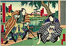 Yoshitaki Utagawa 1841-1899 - Chushingura Act. 6  - Kabuki