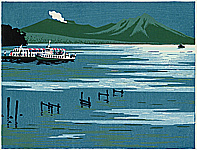 Yasushi Omoto born 1926 - Twenty-one Views of Ezo -  Lake Shikotsu