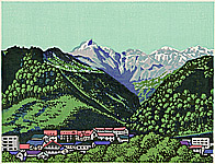Yasushi Omoto born 1926 - Twenty-one Views of Ezo -  Soun Valley and Mt. Kurodake