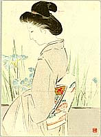 Hanko Kajita 1870-1917 - Beauty and Irises