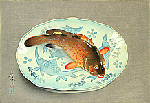 Bakufu Ono 1888-1976 - Red Fish on Platter