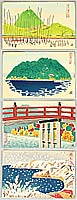 Hideo Nishiyama born 1911 - Four Post Card Size Prints no.1- Ohmi Hakkei