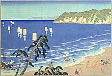 Yoshio Kawatsura 1880-1963 - On the Beach