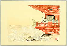 Gekko Ogata 1859-1920 - From Temple Balcony - One Hundred Views of Mt. Fuji