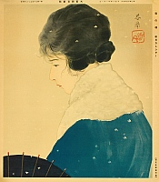Shunkyo Yamamoto 1871-1933 - Snowy Morning - Asahi Newspapers Calendar