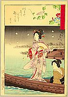 Chikanobu Toyohara 1838-1912 - Fire Flies