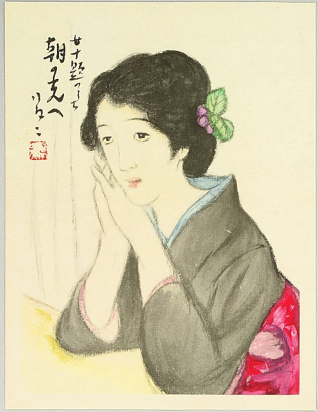 Yumeji Takehisa 1884-1934 - A Bijin in the Morning