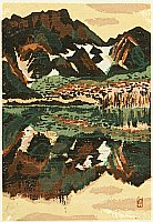 Susumu Yamaguchi 1897-1983 - Mountain and Lake