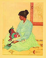 Elizabeth Keith 1887-1956 - Korean Mother and Child