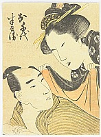 Utamaro Kitagawa 1750-1806 - Lovers - Kabuki