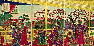 Hiroshige III Utagawa 1842-1894 - Empress Meiji