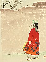 Hanko Kajita 1870-1917 - Listening to Bush Warbler