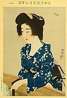 Shinsui Ito 1898-1972 - Beauty and Flying Bat