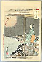 Gekko Ogata 1859-1920 - Fireworks - Fujin Fuzoku Zukushi