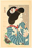 Shiun Kondo active  in 1910-30s - November - Collection of New Ukiyoe Style Beauties