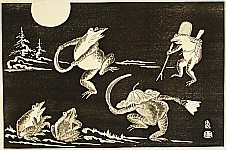 Tomikichiro Tokuriki 1902-1999 - Dancing Frogs