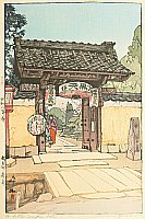 Hiroshi Yoshida 1876-1950 - A Little Temple Gate