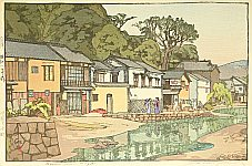 Hiroshi Yoshida 1876-1950 - Small Town in Chugoku