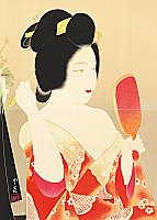 Insho Domoto 1891-1975 - Beauty with a Hand Mirror