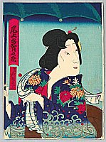 Yoshimitsu Sasaki 1850-1891 - Onoe Taganojo - Actor Portrait