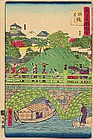Hiroshige III Utagawa 1842-1894 - Eyeglasses Bridge  - Famous Places of  Tokyo