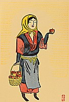 Senpan Maekawa 1888-1960 - Apple Girl