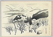 Bakufu Ono 1888-1976 - Snowy Village