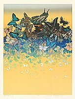 Chizuko Yoshida born 1924 - Butterflies on a Beach