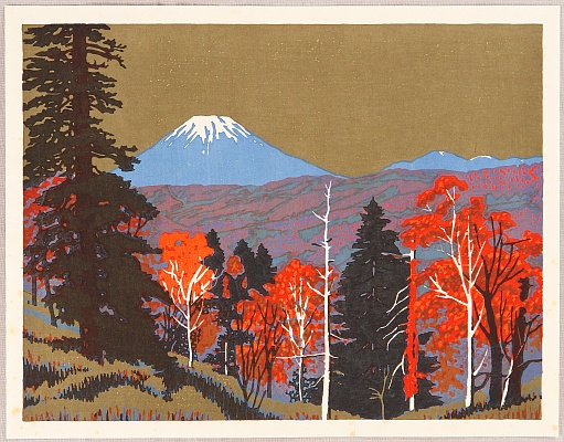 Yasushi Omoto born 1926 - Ezo Fuji - Twenty-one Views of Hokkaido