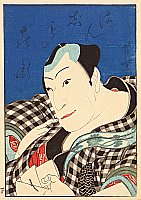 Yoshitoyo  1830-1866 - Two Osaka Actors