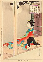 Shuntei Miyagawa 1873-1914 - Lady by Moonlilght - Fuzoku Tsu