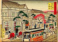Hiroshige III Utagawa 1842-1894 - Nihonbashi - Kokon Tokyo Meisho