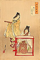 Gekko Ogata 1859-1920 - Two Bijins - Gekko Zuihitsu