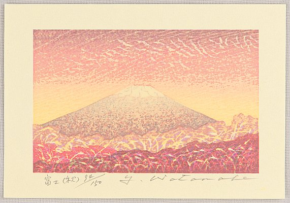 Yuji Watanabe born 1941 - Mt. Fuji in Autumn