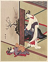 Harunobu Suzuki 1724-1770 - Mother and Daughter