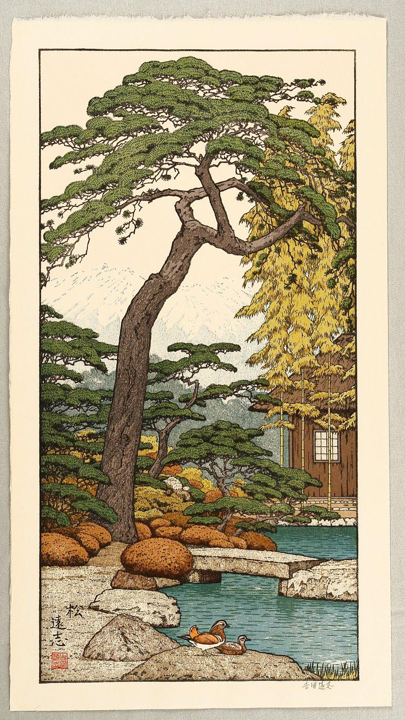 Yoshida Toshi: Pine Tree - Artelino - Ukiyo-e Search