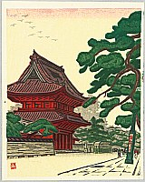 Masao Maeda 1904-1974 - Mountain Gate of Zojo Temple