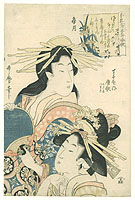 Utamaro II Kitagawa died 1831 - Two Courtesans