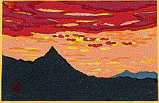 Susumu Yamaguchi 1897-1983 - High Mountain and Red Sunset