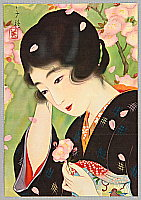 Chigusa Kotani 1890-1945 - Beauty and Cherry Blossoms