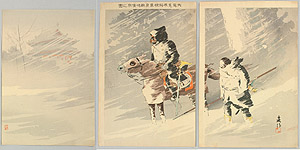 Baisaku (Beisaku) Taguchi 1864-1903 - In the Snow Storm - Sino - Japanese War