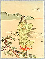 Eisen Tomioka 1864-1905 - Beauty and Crane