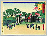 Hiroshige II Utagawa 1829-1869 - Black Gate at Ueno - Kokon Tokyo Meisho
