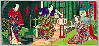 Yoshitaki Utagawa 1841-1899 - Assassin - kabuki