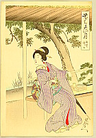 Chikanobu Toyohara 1838-1912 - Tea House