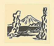 Unichi Hiratsuka 1895-1997 - Mt. Fuji from Koshimoda