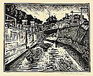 Fumio Kitaoka 1918-2007 - Kanda River - Face of Tokyo