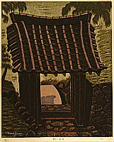 Masao Maeda 1904-1974 - Gate of Moss Temple